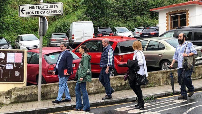 Aburto recorre una vez más los barrios de Bilbao para contrastar los avances de las obras y conocer las prioridades de la ciudadanía